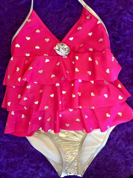 Down East Heart Ruffle Tankini Swimsuit - JEN'S KIDS BOUTIQUE