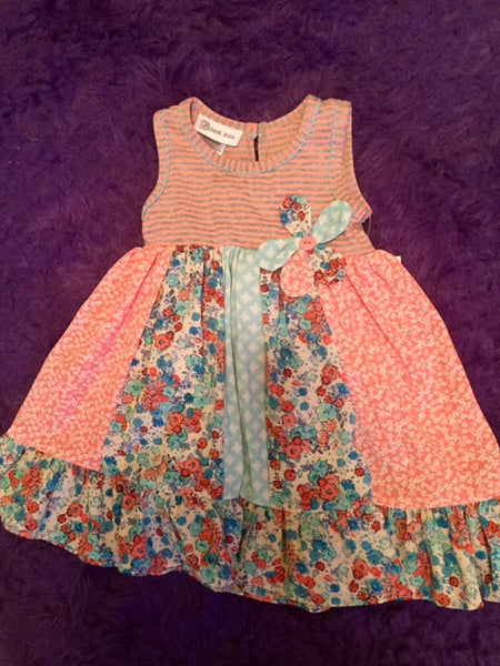 Bonnie Stripped Floral Summer Dress - JEN'S KIDS BOUTIQUE