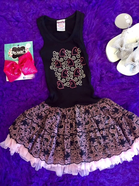 Special Tee Designs Pink Heart Dress - JEN'S KIDS BOUTIQUE