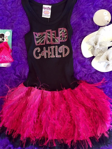 Special Tee Designs Wild Child Dress C - JEN'S KIDS BOUTIQUE