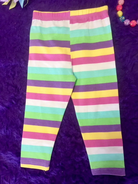 Mallory May By Peaches N Cream Spring Capri Khaki Leggings - JEN'S KIDS BOUTIQUE