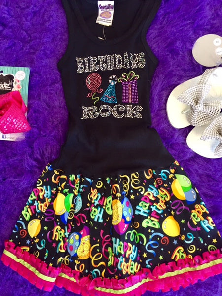 Special Tee Designs Birthday Rocks Dress - JEN'S KIDS BOUTIQUE