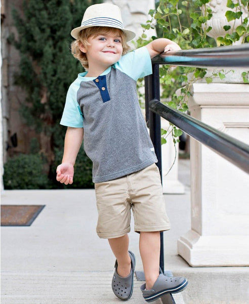 Rugged Butts Boys Khaki Cuffed Chino Shorts - JEN'S KIDS BOUTIQUE