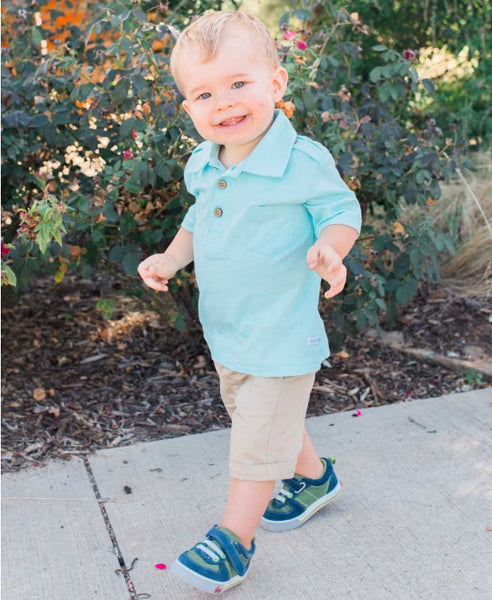 Rugged Butts Boys Sea Foam  Pocket Polo Shirt - JEN'S KIDS BOUTIQUE