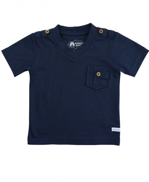 Rugged Butts Boys Blue Pocket Polo Shirt - JEN'S KIDS BOUTIQUE