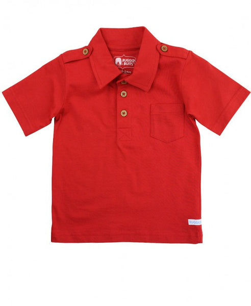 Rugged Butts Boys Red Pocket Polo Shirt - JEN'S KIDS BOUTIQUE