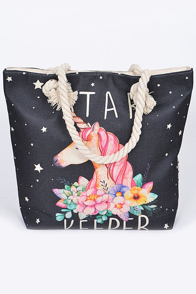 Colorful Unicorn Both Sided Bag - JEN'S KIDS BOUTIQUE
