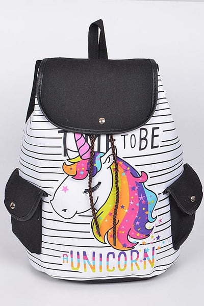Time To Be A Unicorn Backpack - JEN'S KIDS BOUTIQUE