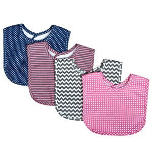 Trend Lab Perfectly Pretty 4 Pack Bib Set - JEN'S KIDS BOUTIQUE