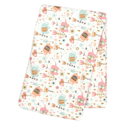 Trend Lab Playful Elephants Flannel Swaddle Blanket - JEN'S KIDS BOUTIQUE