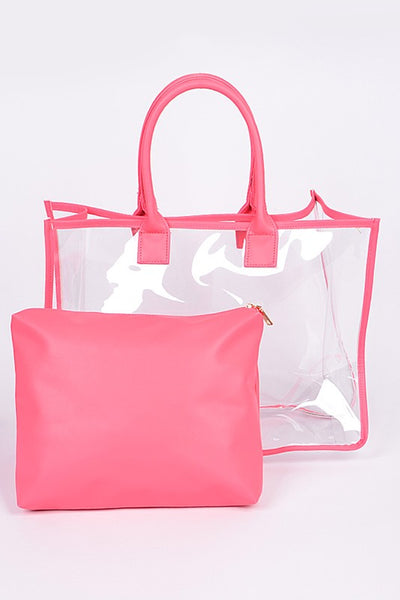Fall Back To School Clear Day to Day Bag Pink - JEN'S KIDS BOUTIQUE