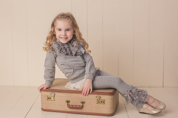 MAELI ROSE Spring Sparkling Tulle Hoodie Gray - JEN'S KIDS BOUTIQUE
