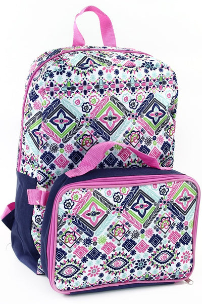 Fall Back To School Flower 16 in Backpack With Lunch Kit - JEN'S KIDS BOUTIQUE