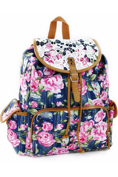 "Fall Back to School 16"" Rucksack Backpack Navy - JEN'S KIDS BOUTIQUE"