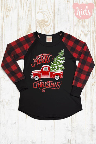 2018 Mommy & Me Girls Merry Christmas Long Sleeve Shirt - JEN'S KIDS BOUTIQUE