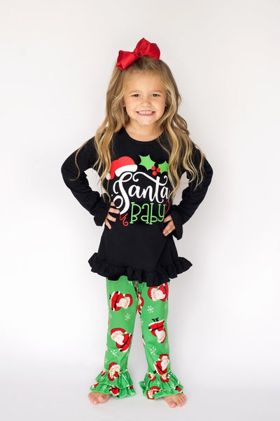 Christmas Santa Baby Legging Set CH - JEN'S KIDS BOUTIQUE