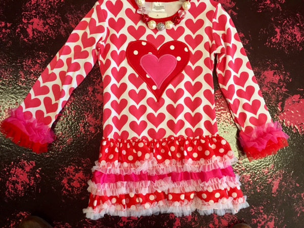 Valentines Big Heart Tutu Dress - JEN'S KIDS BOUTIQUE