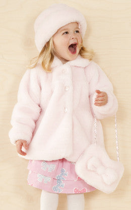 Le Top Fancy Pink Faux Fur Jacket - JEN'S KIDS BOUTIQUE