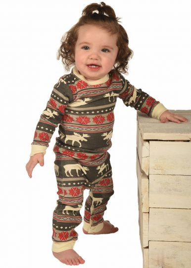 Lazy Z Moose Fair Isle Unionsuit - JEN'S KIDS BOUTIQUE
