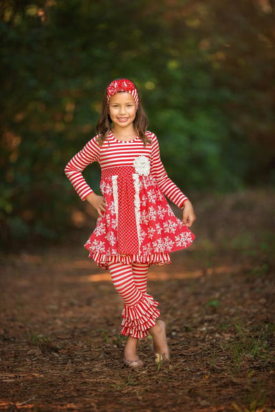 2018 Fall Serendipity Christmas Winter Wonderland Dress W/Legging - JEN'S KIDS BOUTIQUE