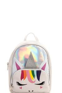 2108 Unicorn Theme  Metallic Backpack - JEN'S KIDS BOUTIQUE