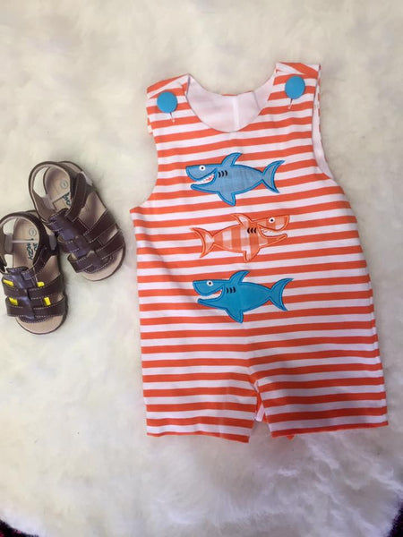 Honesty Spring Boys Shark App Shortall - JEN'S KIDS BOUTIQUE