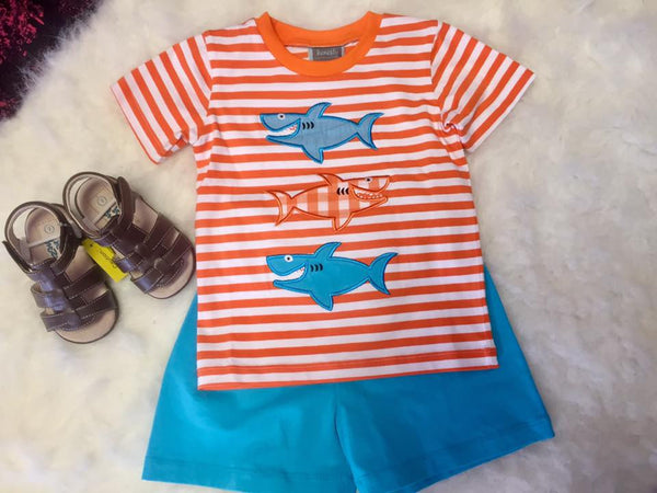 Honesty Spring Boys Shark App T-Shirt Set - JEN'S KIDS BOUTIQUE