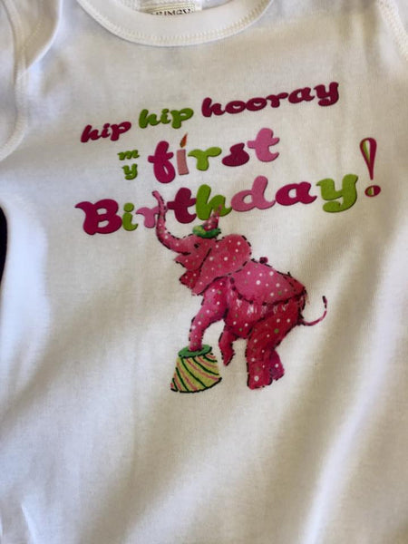 Mumsy Goose 2017 Infant White Hip Hop Hooray First Birthday Onesie - JEN'S KIDS BOUTIQUE