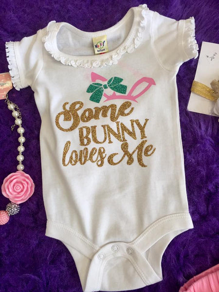 Jubilee Easter Some Bunny Loves Me Infant Onesie ECL - JEN'S KIDS BOUTIQUE