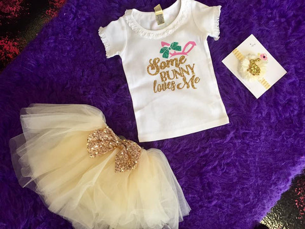 Jubilee Adorable Girls Bow Tutu Ivory - JEN'S KIDS BOUTIQUE