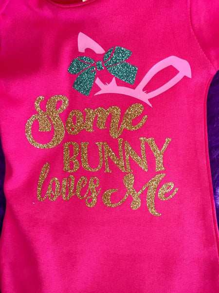 Jubalee Sum Bunny Loves Me Infant Gown Hot Pink - JEN'S KIDS BOUTIQUE