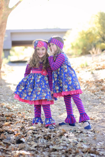 Fall Serendipity Autumn Bloom Dress W/Legging - JEN'S KIDS BOUTIQUE