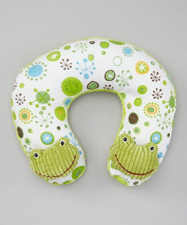 Masion Chic Freddy the Frog Neck Pillow - JEN'S KIDS BOUTIQUE