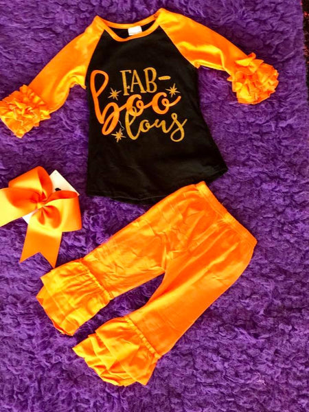 Honey Dew 2017 Halloween Orange Raglan Shirt - JEN'S KIDS BOUTIQUE