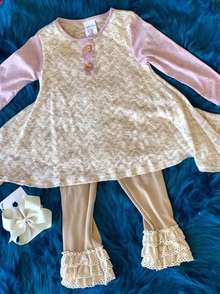 Whimsy by Peaches and Cream Cream Fall Pant Set