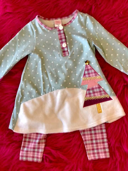 Molly & Millie By Peaches N Cream Christmas Tree Pant Set CH - JEN'S KIDS BOUTIQUE