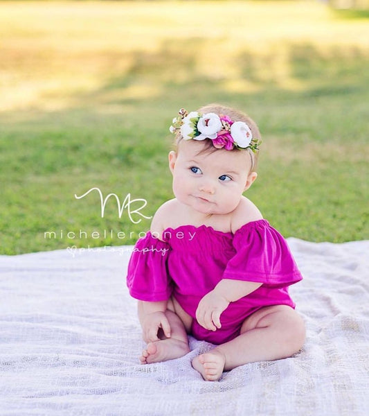 2019 Spring & Summer Infant Flutter Sleeve Romper - JEN'S KIDS BOUTIQUE