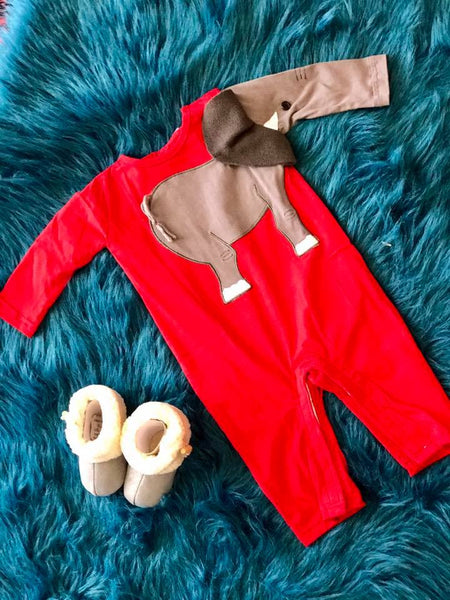 Koko-Nut Milk Kids 2017 Fall Boys Elephant Romper - JEN'S KIDS BOUTIQUE