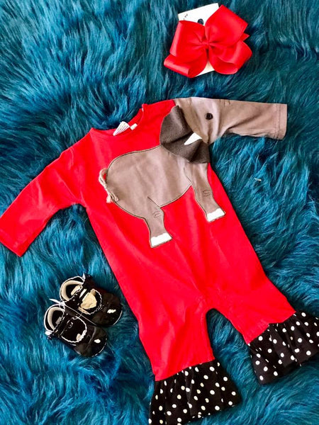 Koko-Nut Milk Kids 2017 Fall Girls Elephant Romper - JEN'S KIDS BOUTIQUE