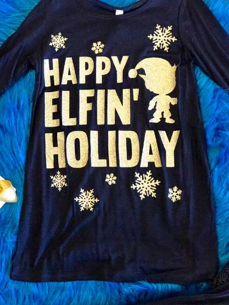 Just For Kids Christmas Happy Elfin Christmas - JEN'S KIDS BOUTIQUE