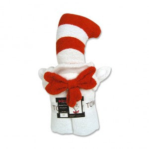 Trend Lab Dr. Seuss Cat In The Hat Character Hooded Towel - JEN'S KIDS BOUTIQUE