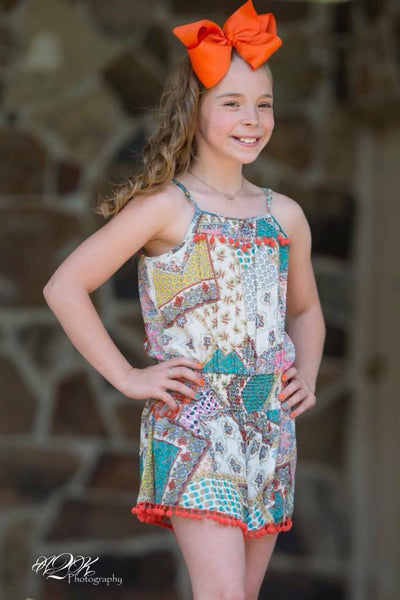 Summer Mimi & Maggie Fress & Easy Multi Romper C - JEN'S KIDS BOUTIQUE