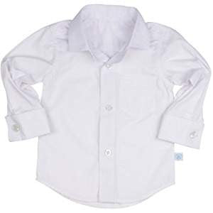 Rugged Butts Boys White Formal Button Down Shirt - JEN'S KIDS BOUTIQUE