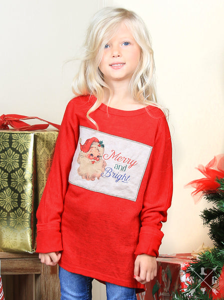 Southern Grace Merry & Bright Tunic For Girls - JEN'S KIDS BOUTIQUE