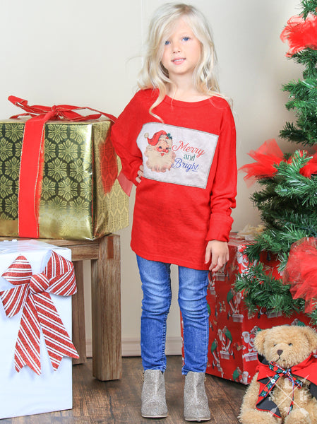 Southern Grace Merry & Bright Tunic For Girls CH - JEN'S KIDS BOUTIQUE
