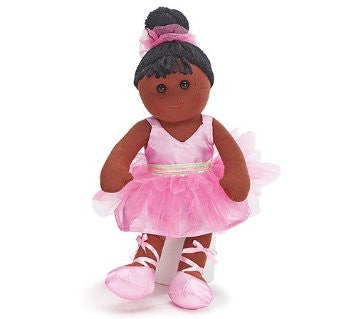 "Burton and Burton Adorable 15"" Black Plush Ballerina Ballet Dance Doll With Pink TuTu - JEN'S KIDS BOUTIQUE"