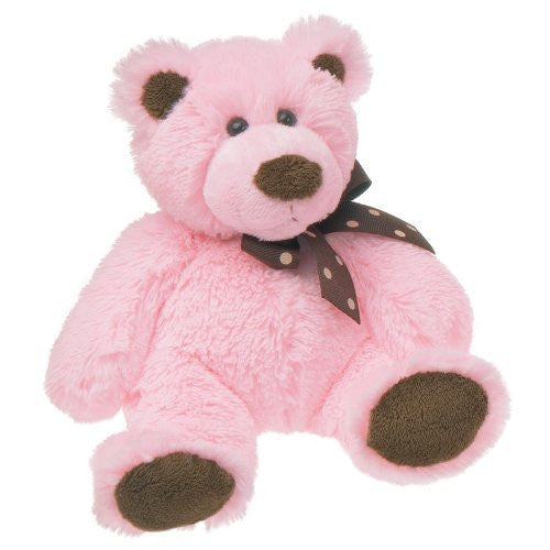 Mary Meyer Sweet Chocolate Plush Bear, Pink, small - JEN'S KIDS BOUTIQUE