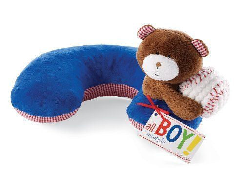 Mudpie Boy Baseball Bear Neck Pillow - JEN'S KIDS BOUTIQUE
