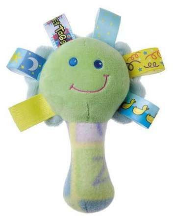 "Mary Meyers Taggies Rattle Squeaker and Mirror  5.5"" - JEN'S KIDS BOUTIQUE"