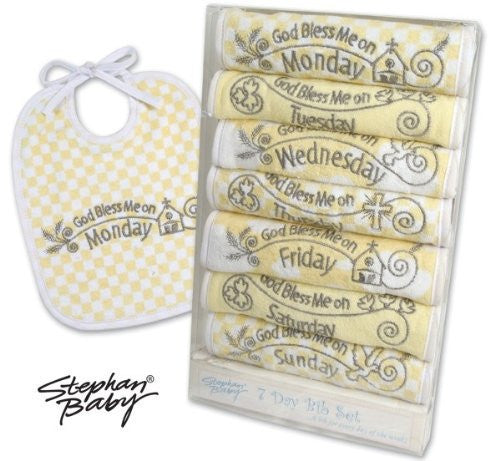 Stephan Baby 7 Day Inspirational Bib Pretty in Paisley, 3-12 Months - JEN'S KIDS BOUTIQUE
